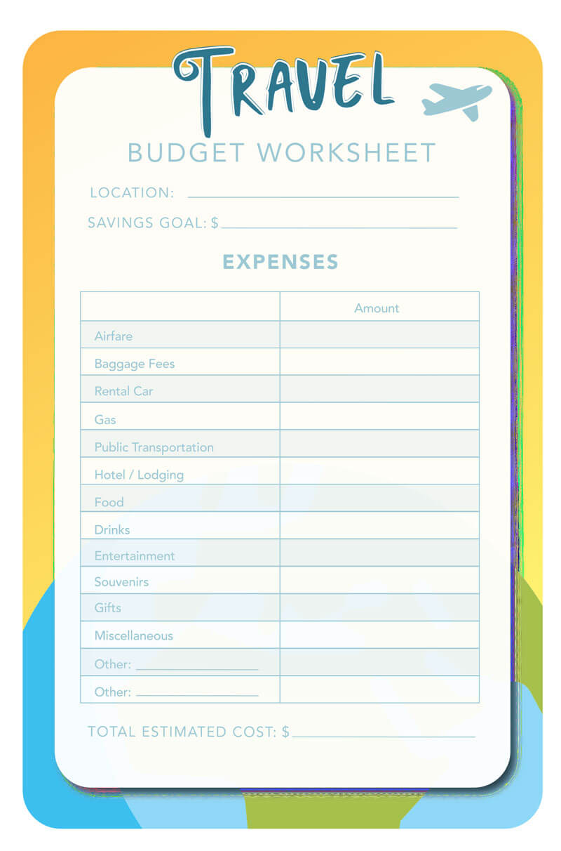 14+ Travel Budget Worksheet Templates (for Excel and PDF)