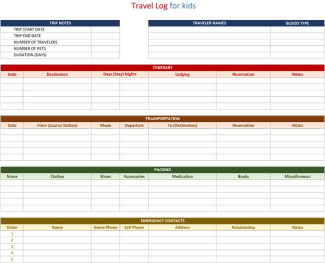 5+ Travel Log Templates to Keep Track Your Travels