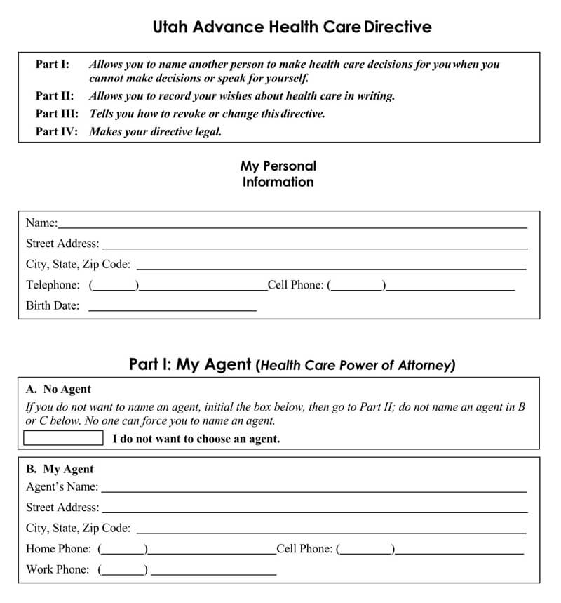 power of attorney form utah medical  Free Medical Power of Attorney Forms (by State) - Word|PDF