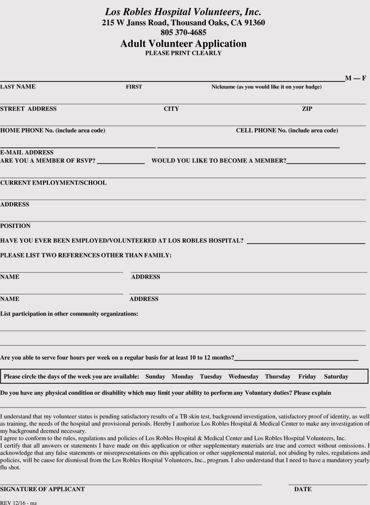 Volunteer-Application-3 Sample Application Form For A Of Ministry on for upng, renew a passport, for business, bridge 2rwanda, auto loan, blank job, high school,