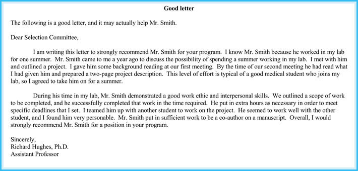 volunteer reference letter sample