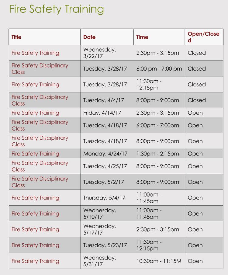 training agenda format