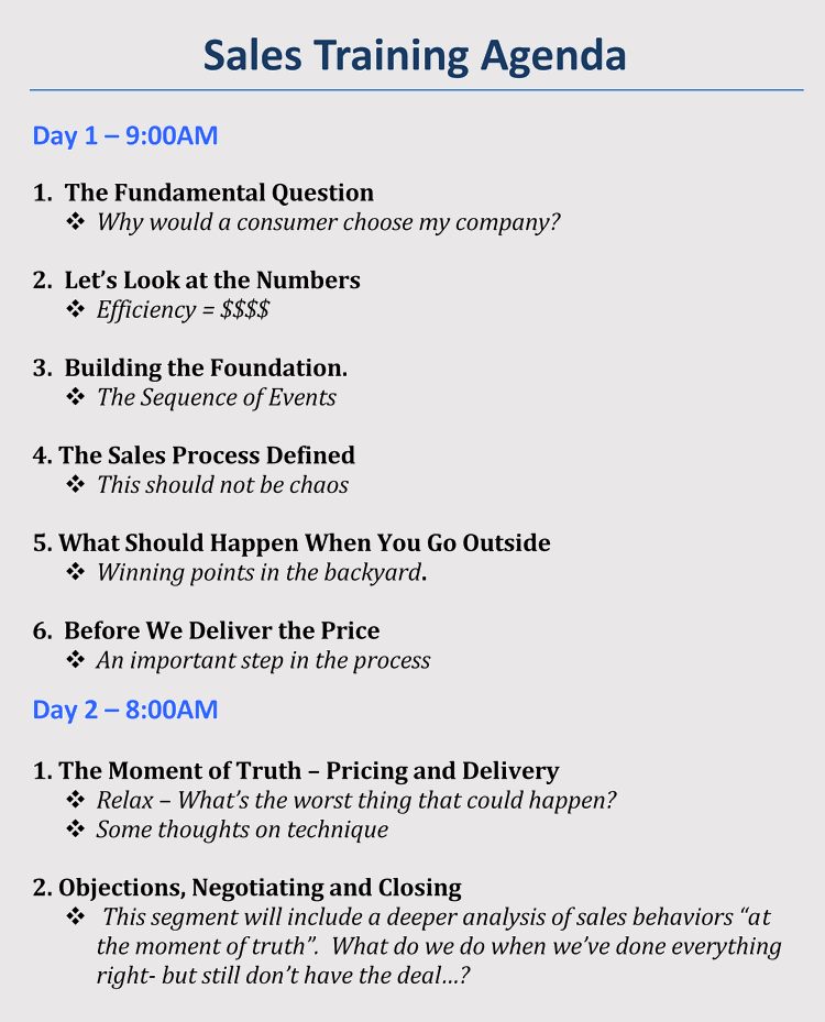 how to format a training agenda  with 12  examples  u0026 samples