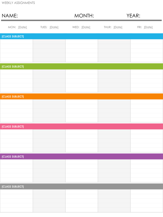 8 Free Weekly Schedule Templates Word Excel