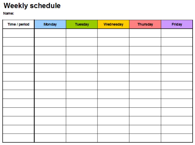 Weekly Planner Template – 7 Free Task and Schedule Planners