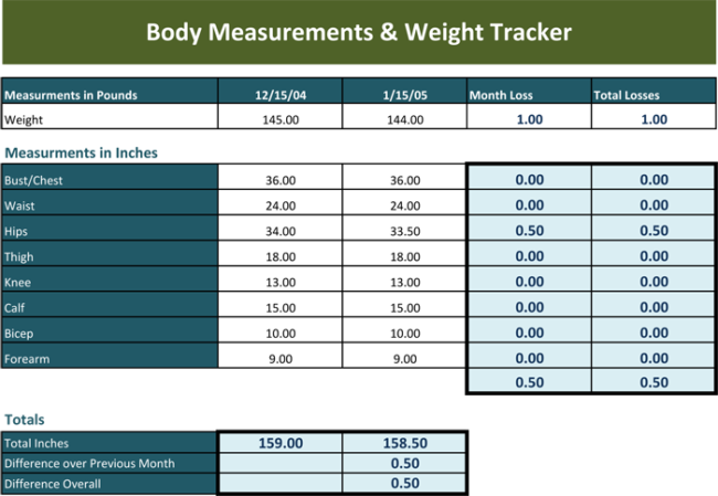 free weight tracking templates  u0026 spreadsheets  word