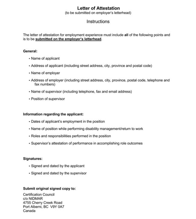 Work Attestation Letter 1