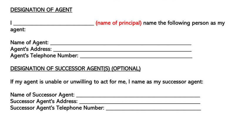 Wyoming Power of Attorney Form