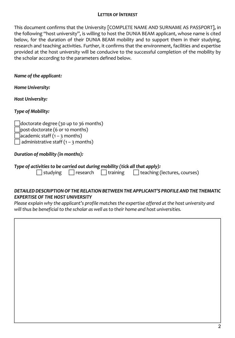 Letter Of Interest Teaching Job from www.wordtemplatesonline.net