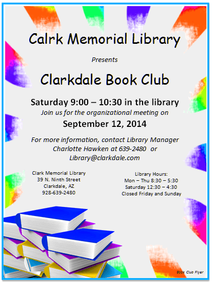 free book club flyer templates  word