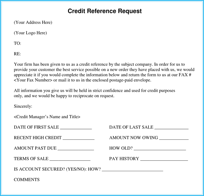 Business Recommendation Letter for Credit