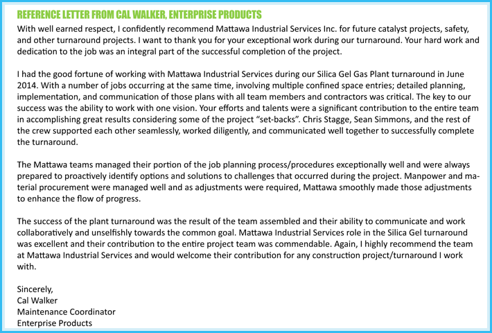 Sample of Business Customer recommendation Letter