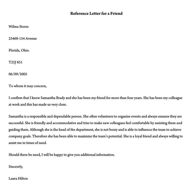 sample character reference letter for court pdf