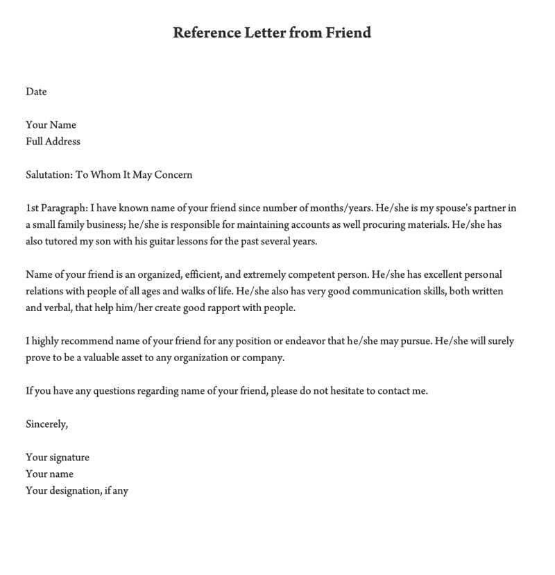 Reference Letter For Family Member from www.wordtemplatesonline.net