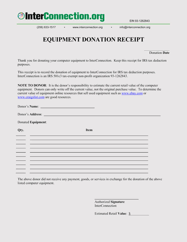 45+ Free Donation Receipt Templates (Non-Profit) Word, PDF