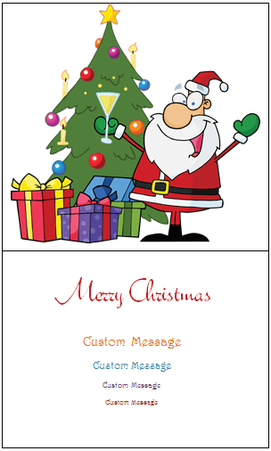 christmas card word templates