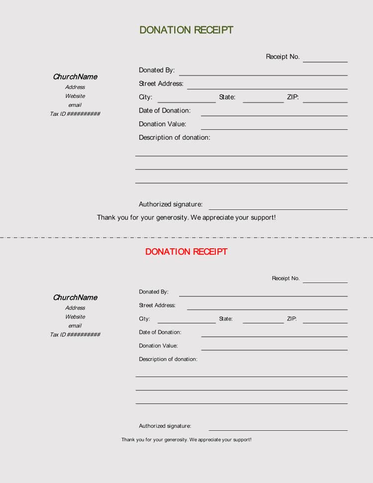45  free donation receipt templates  u0026 formats  docx  pdf