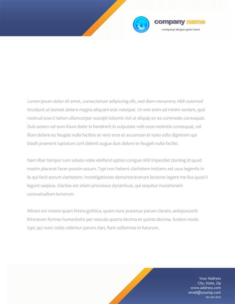 company letterhead example