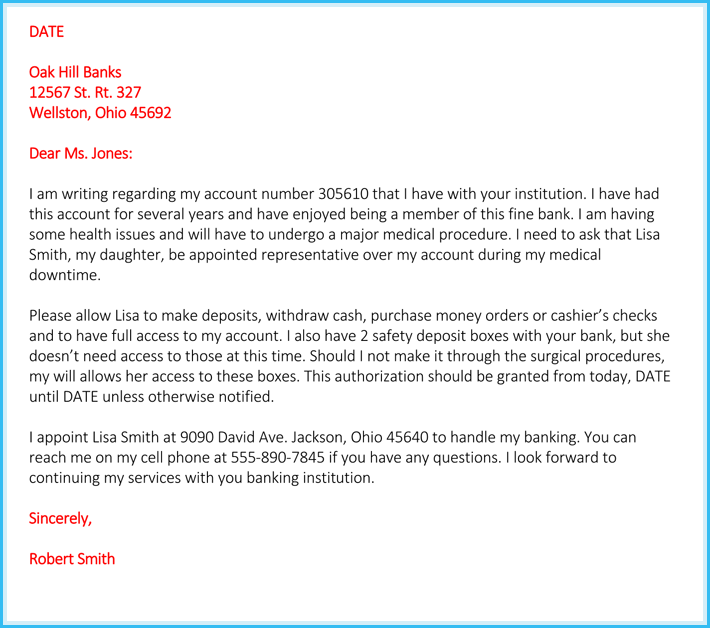 Authorization Letter For Bank How To Write It 6 Free