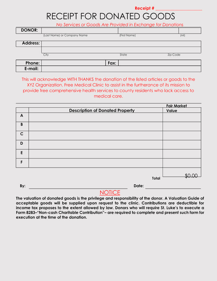 45 free donation receipt templates formats docx pdf