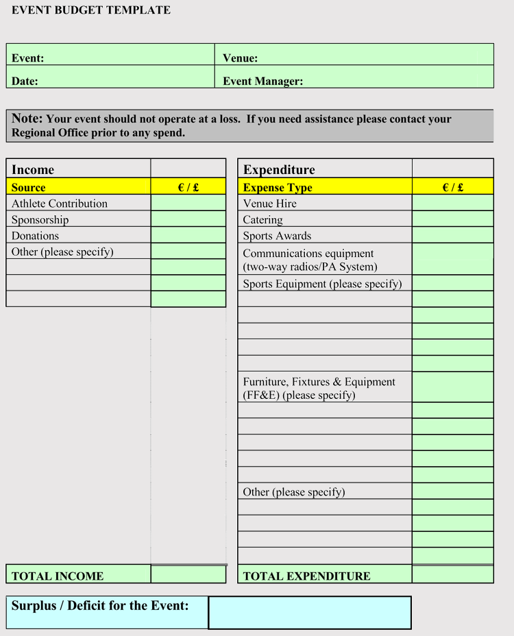 Free Event Budget And Cost Planning Templates Excel Worksheets