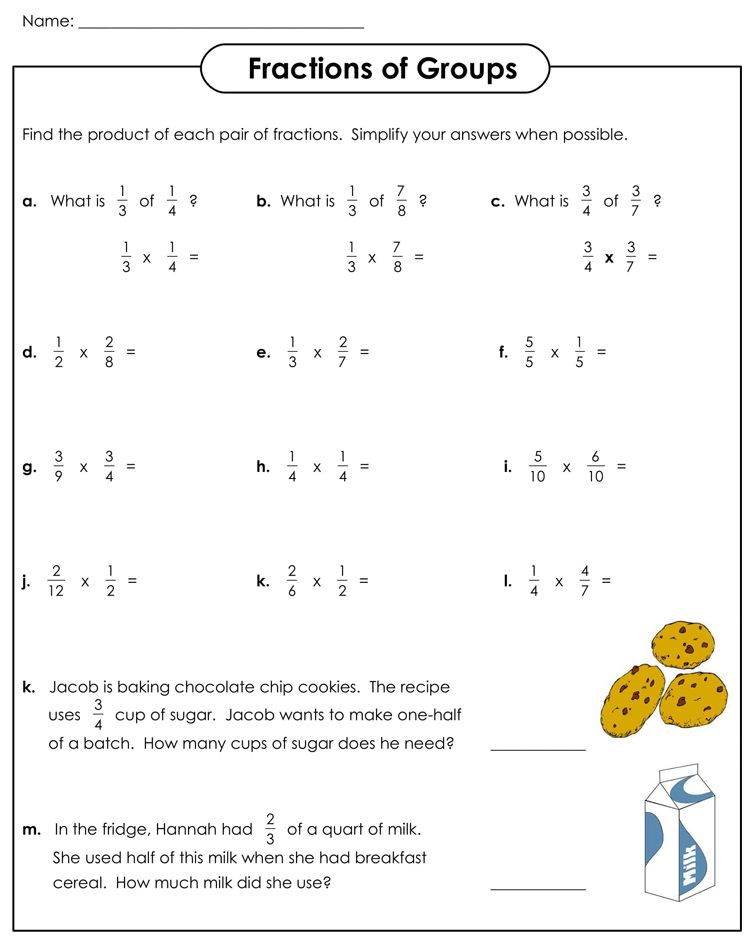 Free Download Fractions Worksheets Pdf
