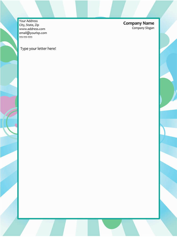 free letterhead templates for microsoft word