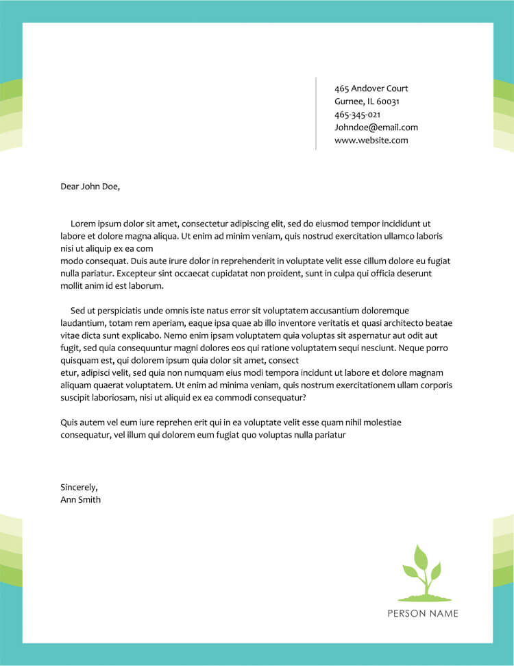 Professional Letter Template Word from www.wordtemplatesonline.net
