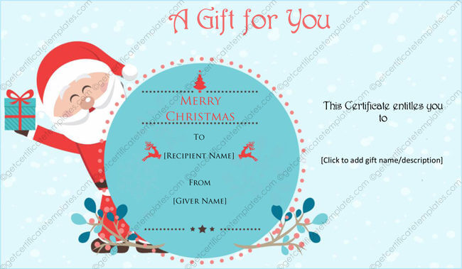 Christmas Card Templates Templates for Microsoft Word – Christmas Gift Card Templates Free