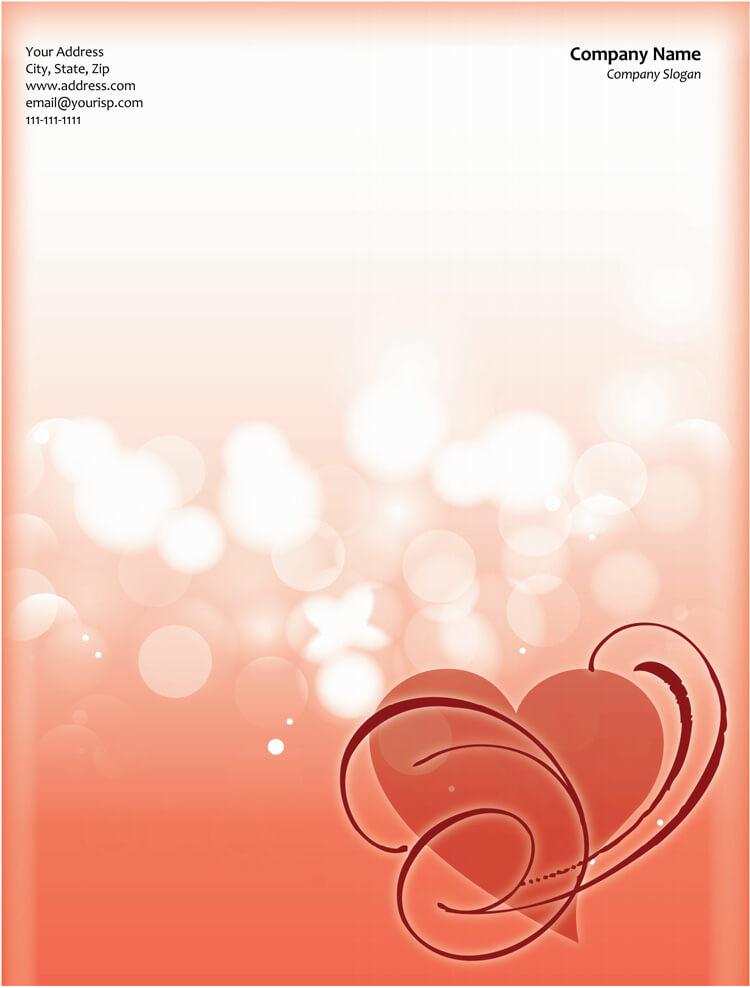 heart letterhead sample