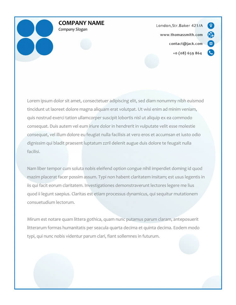 50 free letterhead templates formats for word elegant designs