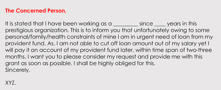 formatting a loan application letter  with sample letters