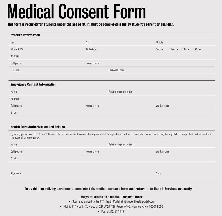 graphic about Printable Medical Consent Form for Minor identify Free of charge Health care Consent Kinds for Small (Kid) (Term PDF)