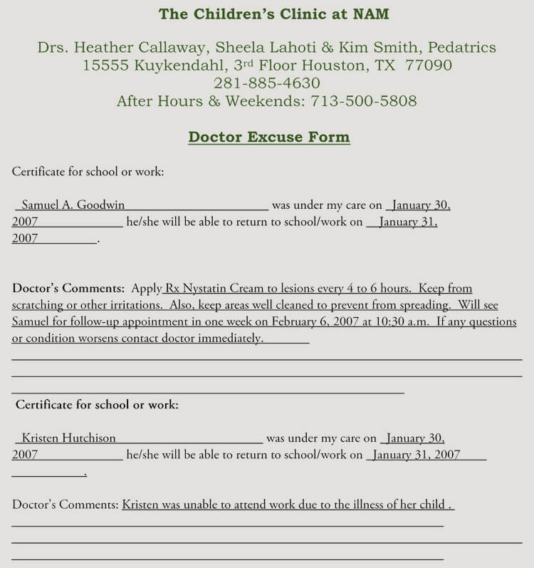 creating fake doctors note excuse slip 12 templates