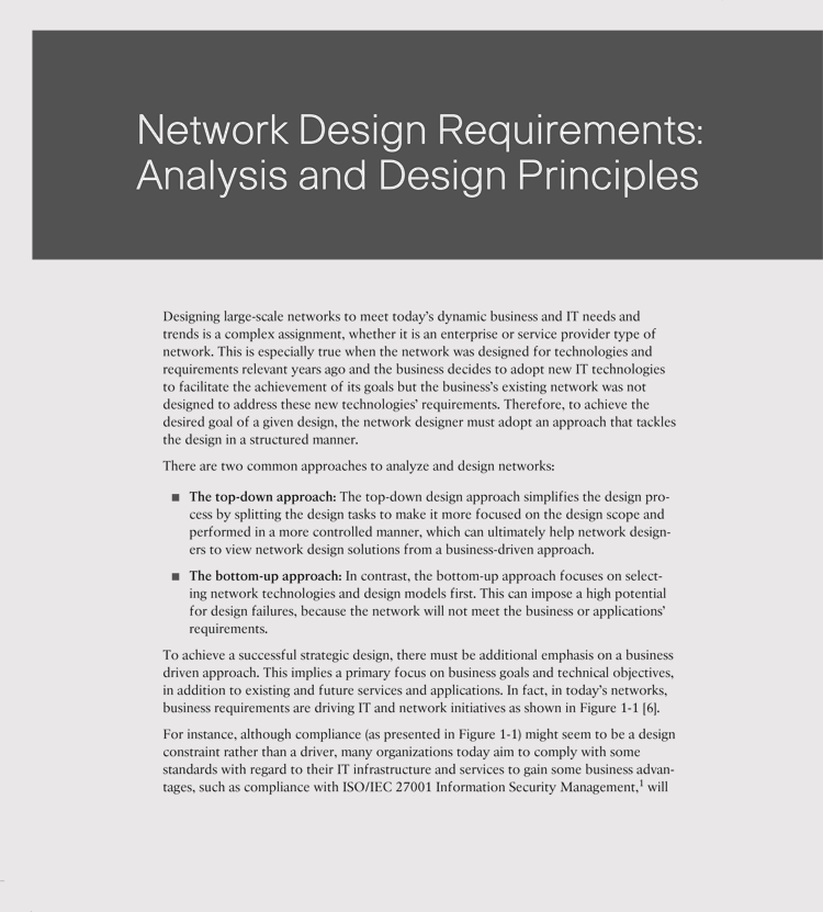 Requirements Analysis Example Project