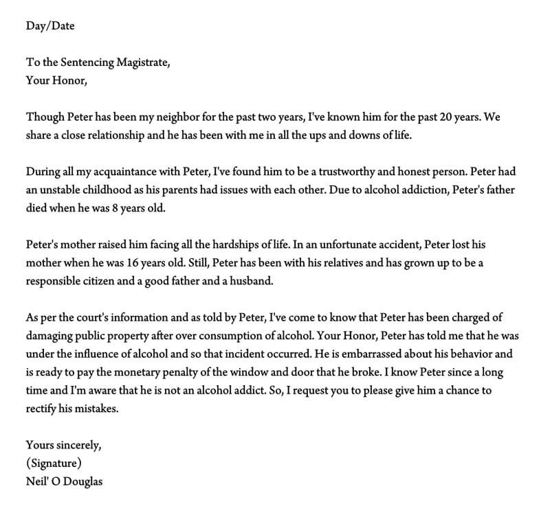 Sample Character Reference Letter For A Relative from www.wordtemplatesonline.net