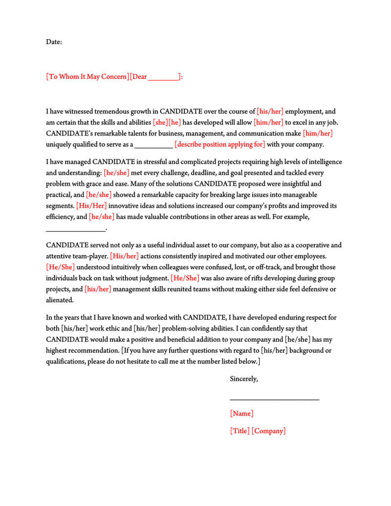 Professional Reference Letter Template Word from www.wordtemplatesonline.net