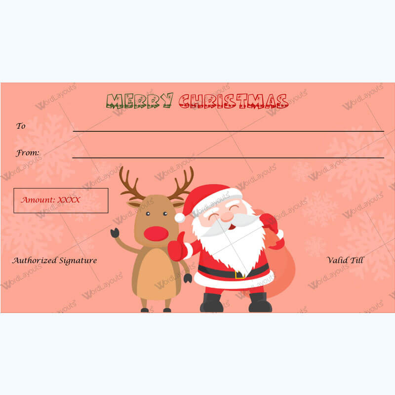 Christmas Gift Certificate Template 31