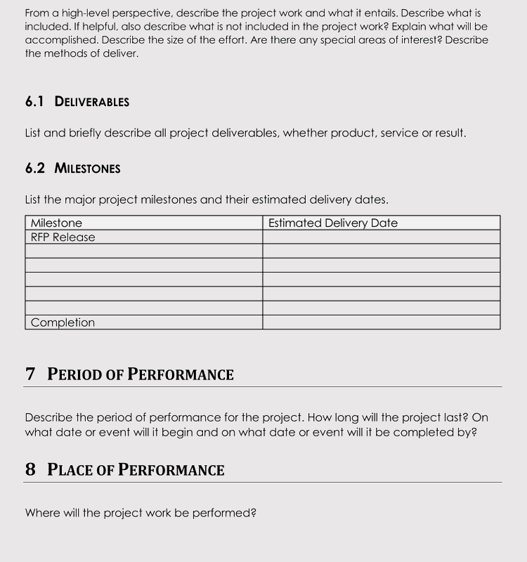 20 statement of work templates excel word write pro sow