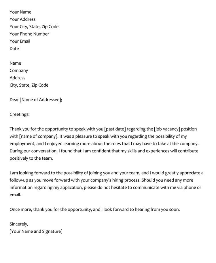 thank you letter after interview 28 best phone thank you letter amp email samples 11582 | thank you letter after interview sample