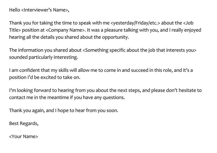 28 Best Phone Interview Thank You Letter Email Samples