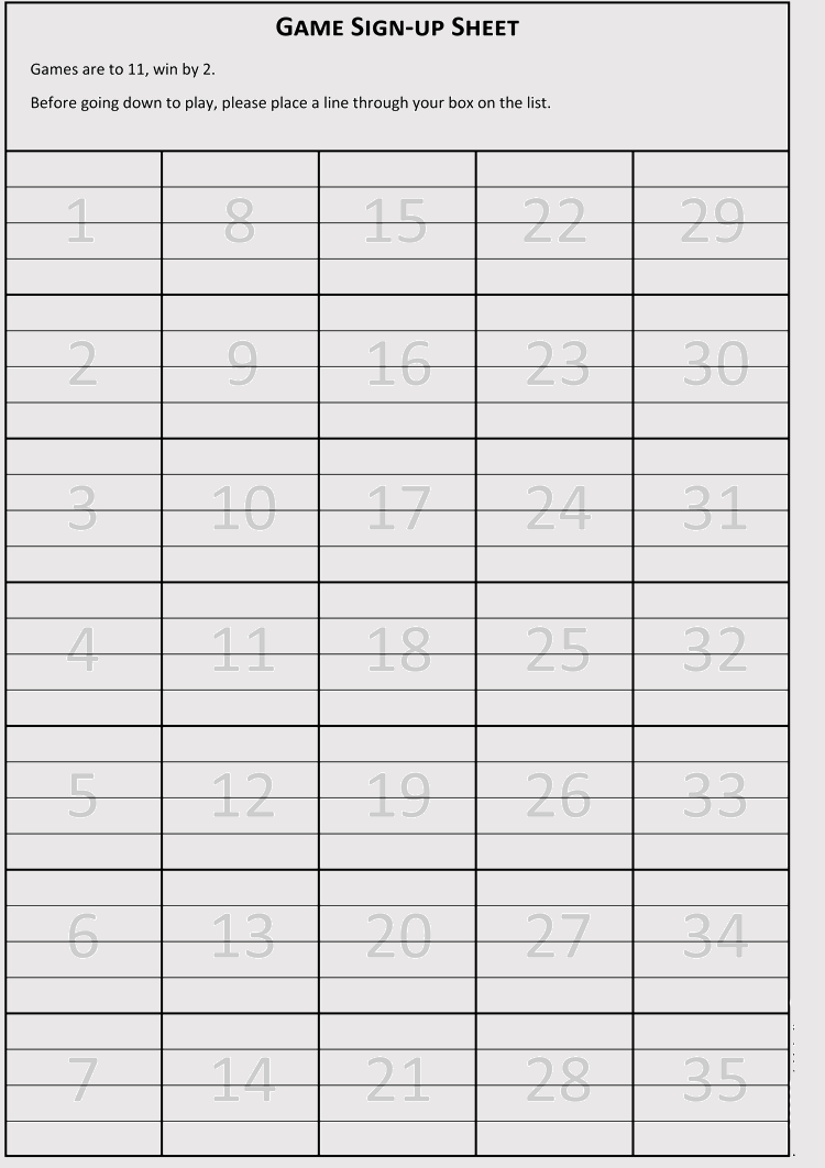 photograph relating to Free Printable Sign Up Sheet titled Blank Volunteer Signal-up Sheet Templates (for Microsoft® Phrase