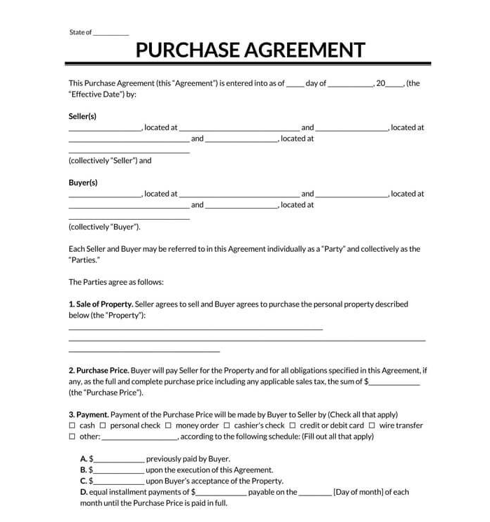 Business Bill of Sale Form 04