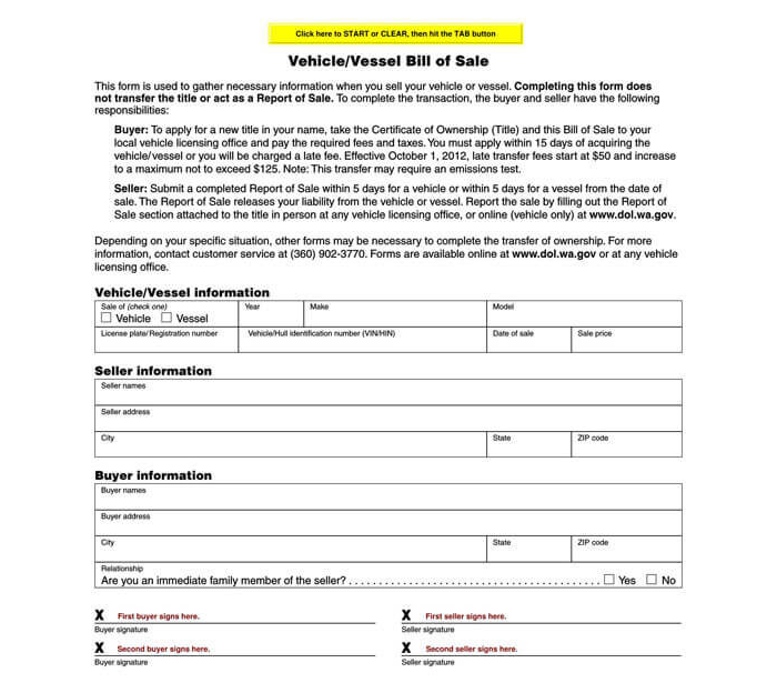 Business Bill of Sale Form 10
