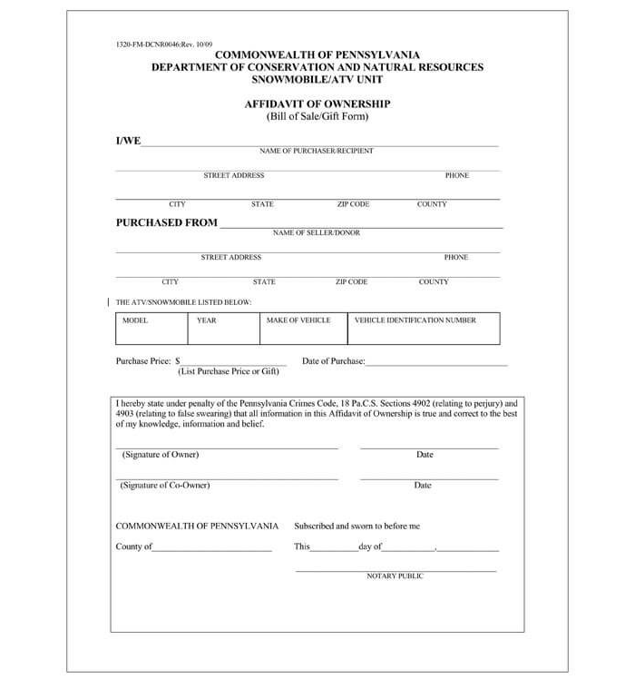Business Bill of Sale Form 11