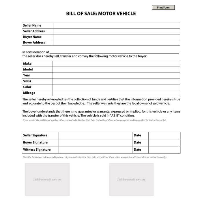 Business Bill of Sale Form 13