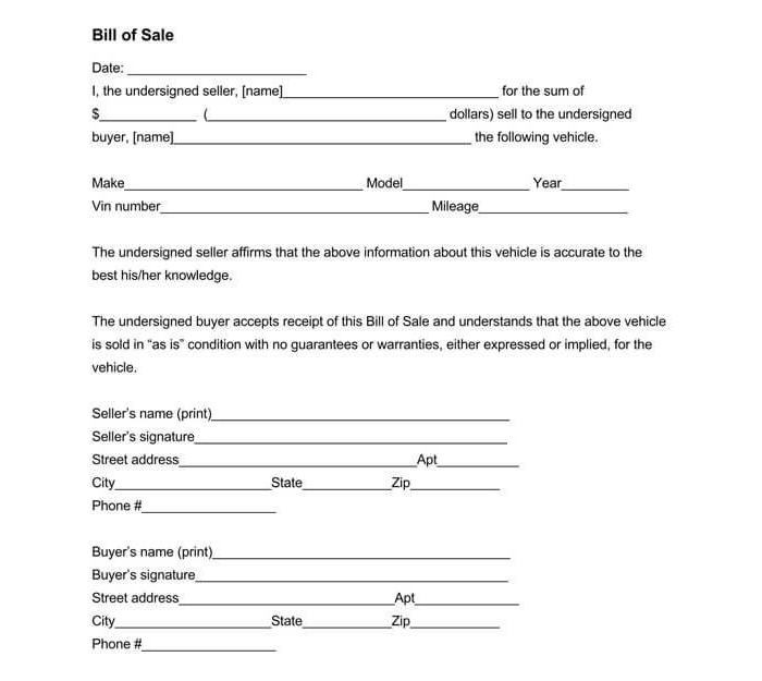 Business Bill of Sale Form 16