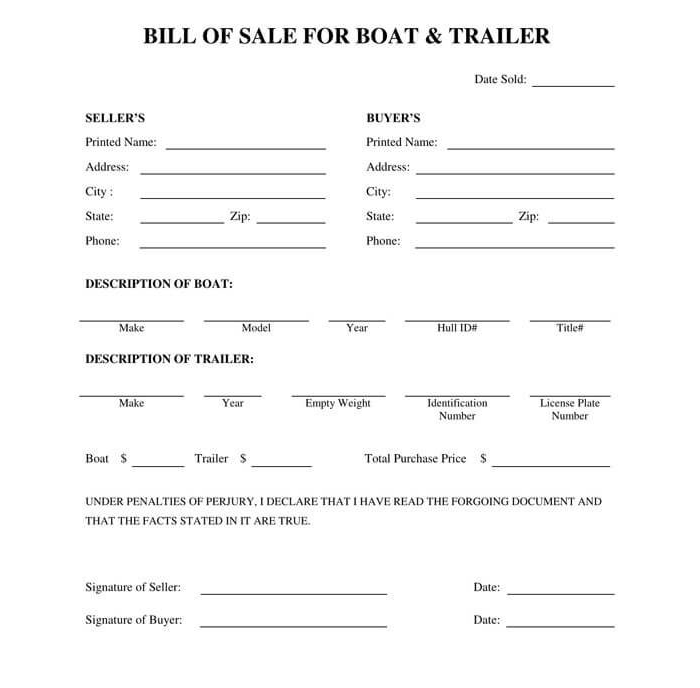 Business Bill of Sale Form 17