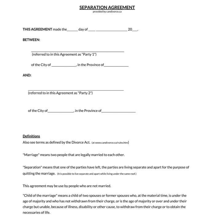 Marriage Separation Agreement 02