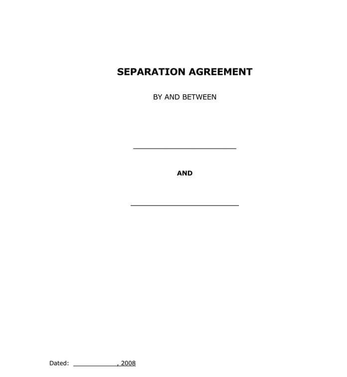 Marriage Separation Agreement 06